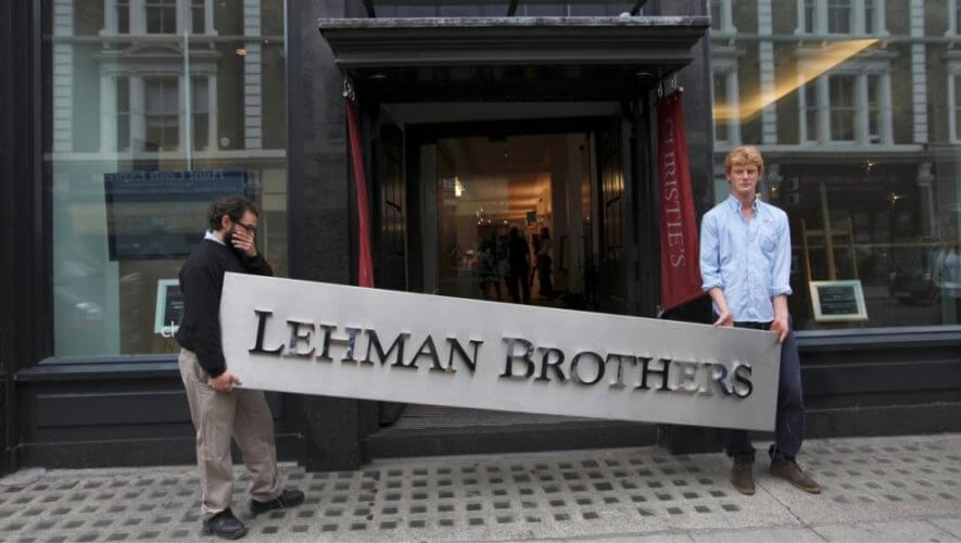 Lehman Brothers sign removal