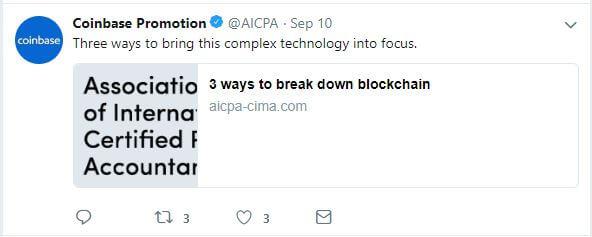 AICPA blockchain tweet