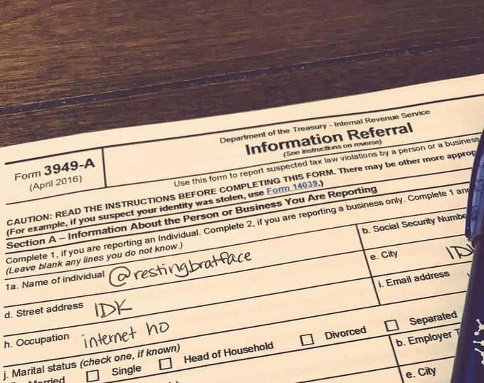Thot Audit tax form