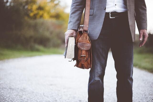 professor with bag