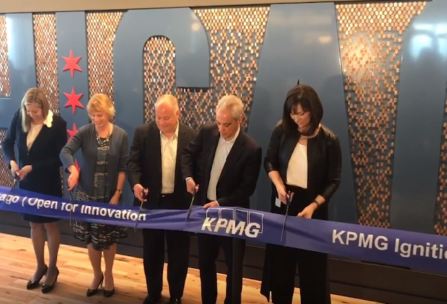 This Slo-Mo KPMG Ignition Center Ribbon-Cutting Video Is