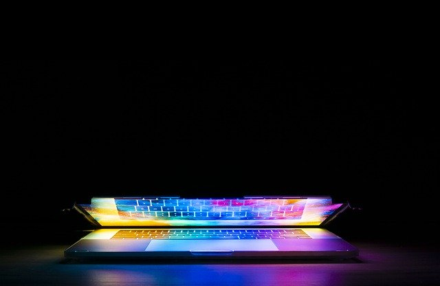 laptop with illuminated keyboard